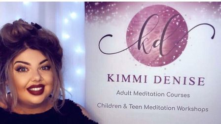 Kimmi Denise has started her own mindfulness and meditation business in Thetford to help adults and