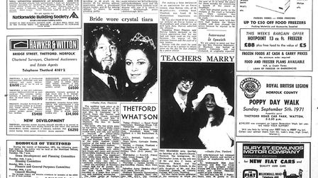 A page from an edition of the TBW in 1971. Picture: Archant