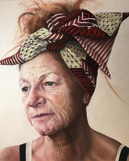 The pastel portrait of Maria Vejente, who died of cancer last year. drawn by her best friend Melodie