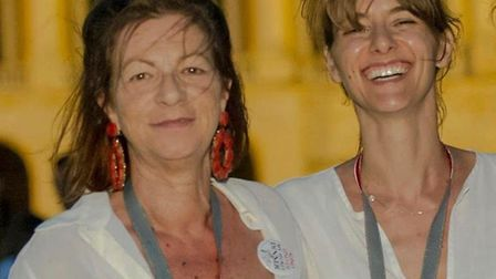 Maria Vejente (left), best friend of Melodie Cook, died of cancer last year. Photo: Melodie Cook