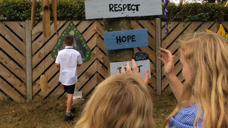 A wellbeing and wonder garden has been created at Elveden Primary Academy. Picture: Lorna Rourke