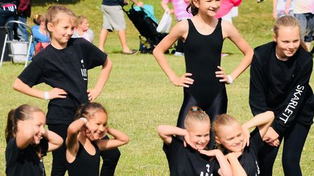 Students of the Ashley Dance Company, a Thetford dance school, performing at a community event. Phot