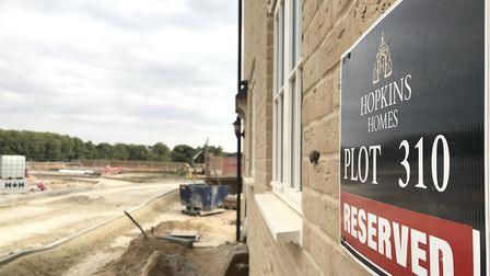 The first houses on the Kingsfleet development in Thetford are almost ready. Picture: Lauren De Bois