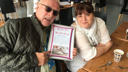 Hilton James (left), a peer support worker who helps to run the Meet up Monday group in Thetford to