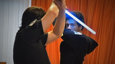 LED light sabre club that use martial arts and light sabres in Thetford. Picture: Jamie Honeywood