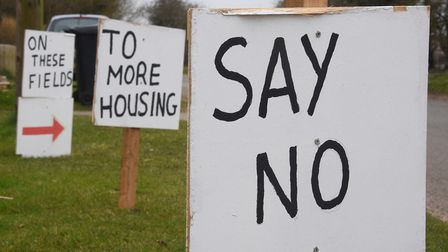 Residents has objected to plans to build 101 more homes in East Harling. Picture: DENISE BRADLEY