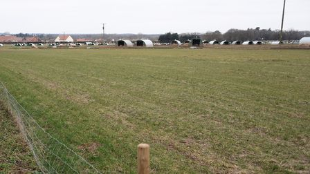 The field on Kenninghall Road at East Harling before the start of the Poppy Fields Estate. Picture: