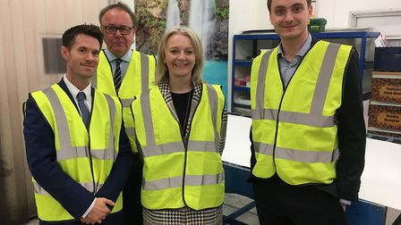 Liz Truss, Secretary of State of International Trade and South West Norfolk MP, visited Peerless Pla