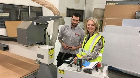 Liz Truss, Secretary of State of International Trade, visited Peerless Plastics and Coatings in Thet