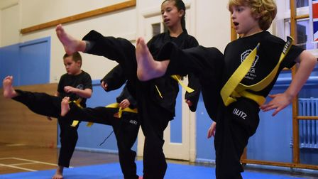 Youngsters in training at the Kuk Sool Won school at Thetford. Picture: DENISE BRADLEY