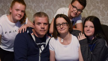 Sally Ashmore of Thetford who has terminal cancer, is surrounded by her family. Sally is planning a