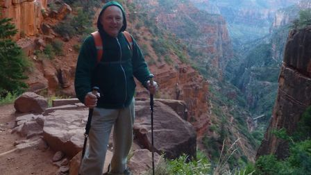 68-year-old Vince Gregory trekked across the Grand Canyon, in Arizona, despite having a heart condit