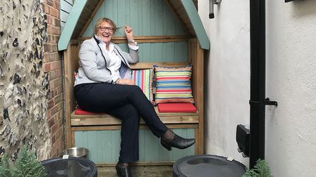Gwyneth Bisset owns Brandon's tiny Air BnB which used to house the town's fire pump in 1907. Picture