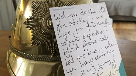 Every visitor recieves a hand written welcome card, flowers and wine. Picture: Ella Wilkinson