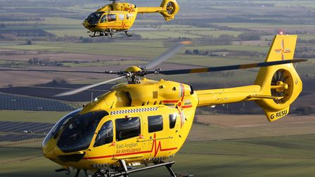 The East Anglian Air Ambulance was called to Thetford after somone had suffered a cardiac arrest. Pi