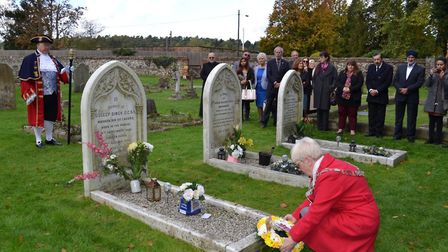A wreath laying ceremony took place at the grave of Maharaja Duleep Singh in Elveden on the annivers