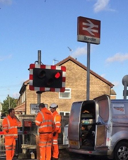 Disruptions were caused by faulty barriers at a level crossing in Brandon. Drivers dangerously cross