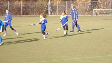 Juniors in training at Thetford Town Hockey Club at Breckland Leisure Centre. Fears that a new 3G pi