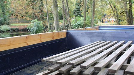 One of Thetford's new punts which should be out on the water by spring. Photo: Photo: Joe Cunnel