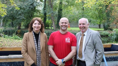 (From left to right) Karen Brame, Paul Norris aka Chuck from Bush Adventures, and Roy Brame, Thetfor