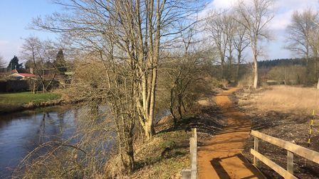 A footbridge in Santon Downham can not be repaired as the correct wood is unavailable. Picture: Rebe