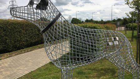 An example of the sculpture. Picture: Dogs Trust