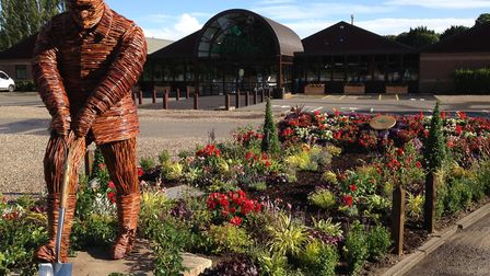 The Willow Man outside the front of Thetford Garden Centre. Photo: Lucy Nixon
