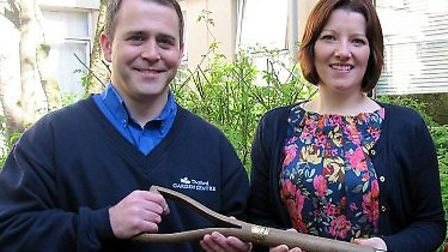 Thetford Garden Centres marketing manager Shane Hinkley with director Lucy Nixon.