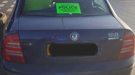 The driver of this Skoda was found to be uninsured and had a two-year-old in the back unrestrained.