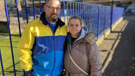 Lee Harman and Nicola Leighton are residents on the Abbey Estate who say they would like to see more
