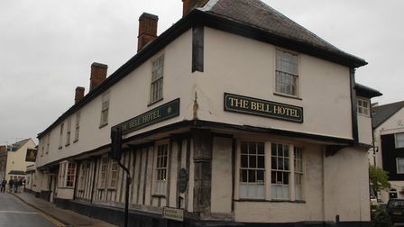 The Bell Hotel in Thetford has been given a poor food hygiene rating. Photo: Sonya Duncan