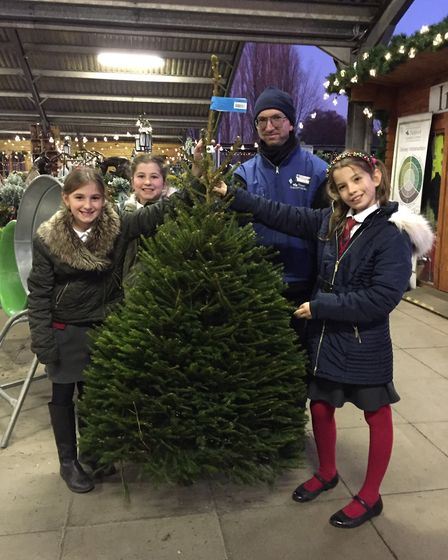 Pupils from local schools sang at the Thetford Garden Centre's 'Sing for a Tree' event. Photo: Thetf