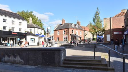 The High Street and King Street in Thetford. Picture: Sonya Duncan