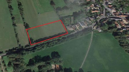 The area of land that the new estate would be built on in Hockham. Picture: Google