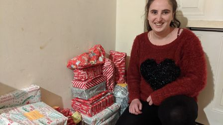 Gemma Taylor has been creating packages for those in need for the past five years. Picture: Marc Bet