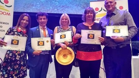 The Brandon in Bloom team at the Anglia in Bloom awards. Picture: Brandon in Bloom