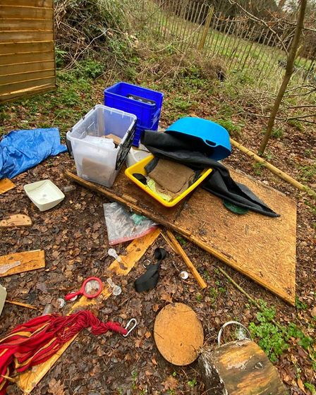 Mundford preschool discovered its forest school had been vandalised. Photo: Michelle Mason