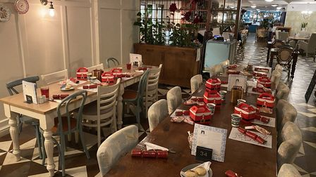 Thetford Garden Centre organised a 'Supper with Santa' night for families using Thetford food bank.