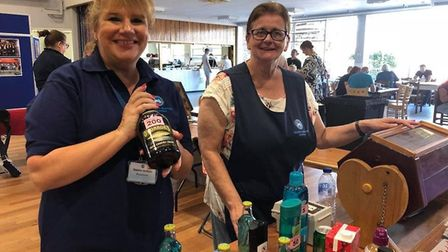 Tributes have been made to Rosmarie Fullbrook (right), a Thetford woman and employee at the Charles