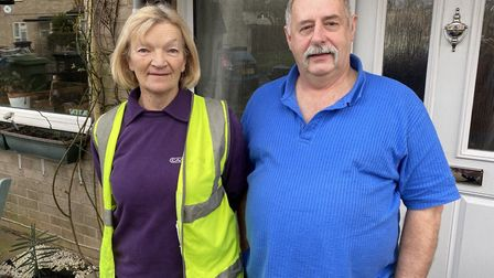 Angela Melahdo and Clive Bamberger are residents on Fir Road and their garden backed onto the garage