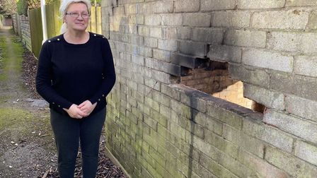 Jurate Stevens is a resident on Elm Road and she believes the garage fire started after something wa