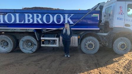 Lorry driver Emma Fulcher was followed by West Suffolk and Brandon Town Councillor, Victor Lukaniuk,