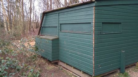 Thieves stole section of a bird hide at Lynford, near Thetford. Picture: Norfolk Police