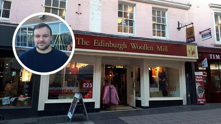 The Edinburgh Woollen Mill clothing store, Lond Street, in Norwich. Picture: Siofra Connor