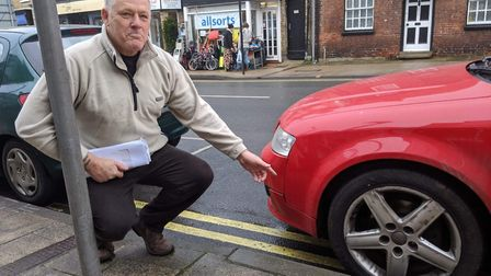 Brandon Town Councillor Gary Brocklehurst wants more car parking spaces in the town. Photo: Emily Th