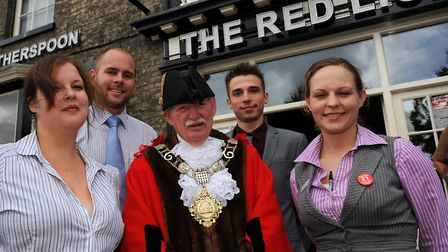 Former mayor of Thetford Terry Lamb at the opening of the Wetherspoon Red Lion in Thetford in 2012.