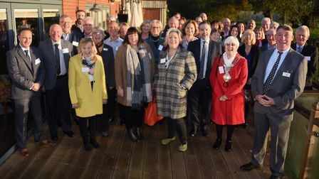 Members of local and community businesses and charities, and guests, at the launch of 'Thetford Shin