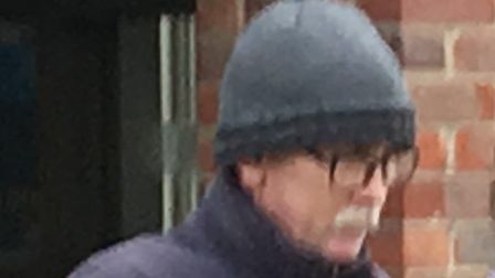 Allan Saunders (left) leaving Norwich Magistrates Court PIC: Peter Walsh.