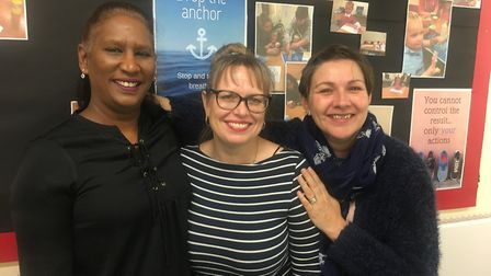 (From left to right) Sandra Govender, CEO of Athena Education Support, Julie Cox, pastoral support m