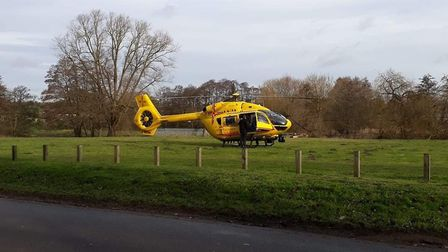 A person died after suffering a cardiac arrest in Thetford, despite the best efforts of air and land